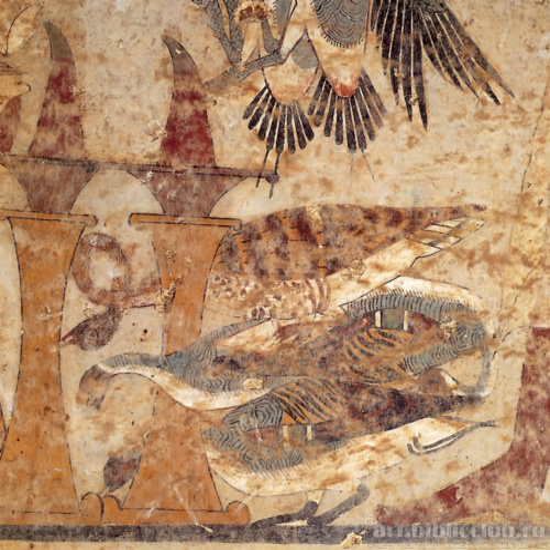 Росписи в гробнице среднего царства в бени-хасане