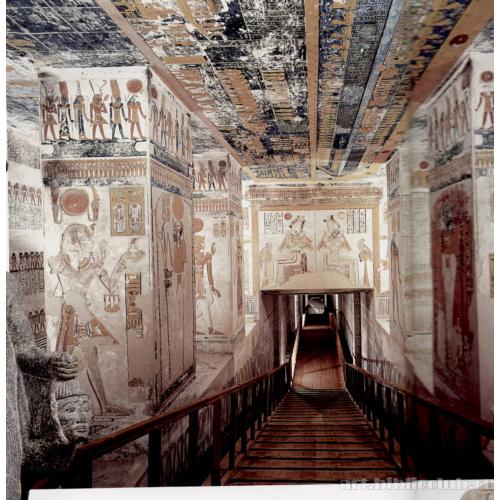 Гробница Рамсеса VI (KV 9): I зал со столбами (фрагмент ...